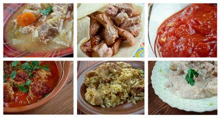 domates: Food set oriental Middle East cuisine.collage