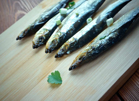 capon: Bloater - type of whole cold-smoked herring.particularly associated with Great Yarmouth, England Stock Photo