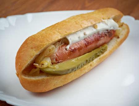 maxwell: Maxwell Street Polish - American  sandwich, consists of  grilled  Polish sausage