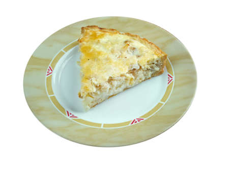 homestyle: tasty homemade quiche with cod.farm-style