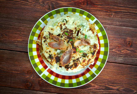cuisines: Trinxat - food from Catalonia, made with potatoes, cabbage and pork meat.European Cuisines