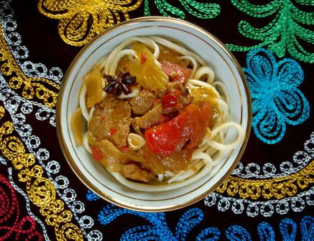 uzbek: Uzbek cuisine Stock Photo