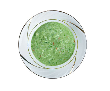 originally: Chimichurri -  green sauce used for grilled meat, originally from Argentina Stock Photo