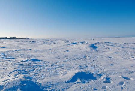 sustained: White Sea. Winter Beach