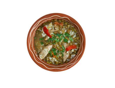 moong: mashhurda - Uzbek soup with moong dal