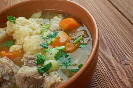 celeriac: Kottsoppa med klimp - meat and vegetable soup eaten in Sweden.