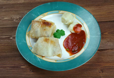 farci: Kaldolmar - Swedish Cabbage Rolls .close up