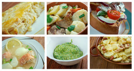 fricassee: Food set . French  traditional  cuisine