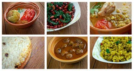 kugel: Food set oriental cuisine.collage Stock Photo