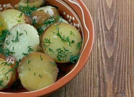 the deep south: Deep South German Style Potato Salad. close up