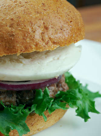 ultimate: Ultimate Greek Burgers - tasty beef burger in the Greek style