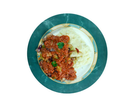 grits: New Orleans Grillades and Grits -  medallions of various meats, conventionally beef, veal and pork. breakfast or brunch over grits, they are a traditional Creole food