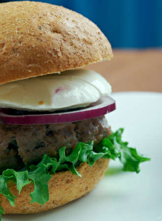 Ultimate Greek Burgers - tasty beef burger in the Greek style