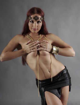 Sexy wild woman  amazon  .young warrior woman