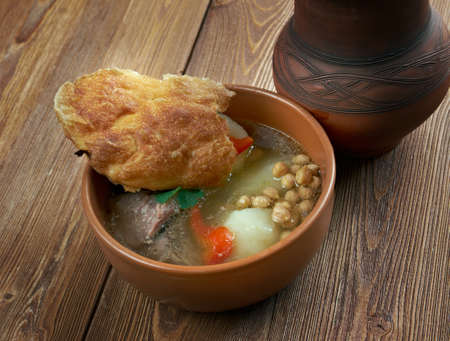cuisines: Piti - soup in cuisines of Caucasus and Central Asia.made with mutton and vegetables
