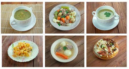 taxista: Conjunto tradicional cuisine.Food irlandesa, escocesa y brit�nica