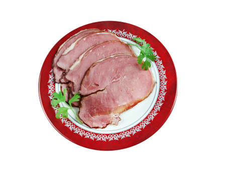 festive food: Hangikjot - hung meat. traditional festive food in Iceland, served at Christmas.
