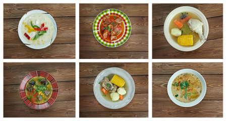 sopa: Food set . southern food.Latin American cuisine