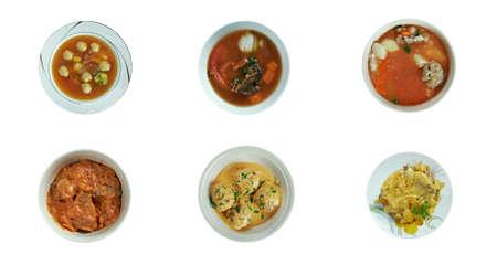 malai: Food set oriental cuisine.collage Stock Photo