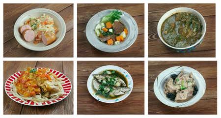 polish chicken: European cuisine.Food set Stock Photo