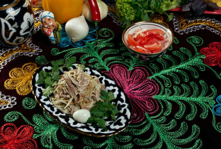 uzbek: Uzbek beef salad -Central Asian cuisine