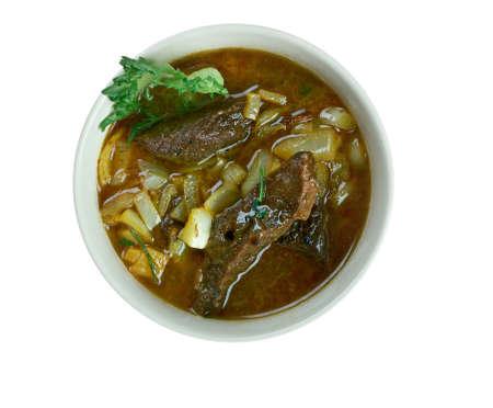 azerbaijani: boz kourma. grilled meat and vegetables. traditional Azerbaijani cuisine hot