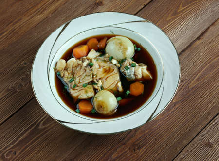 wine sauce: Matelote - French dish of fish with wine sauce.