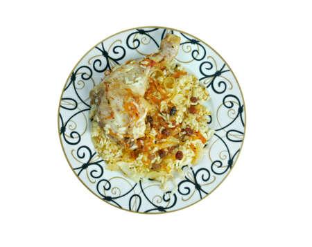 azerbaijani: hihirtma plov  - chicken polow. Azerbaijani cuisine dish