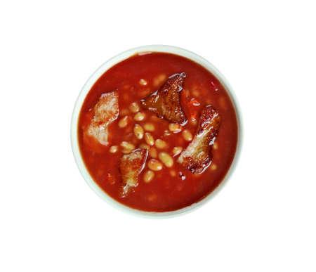 kuru: Pastırmalı Kuru Fasulye -  turkish bean stew with tomato sauce and meat.