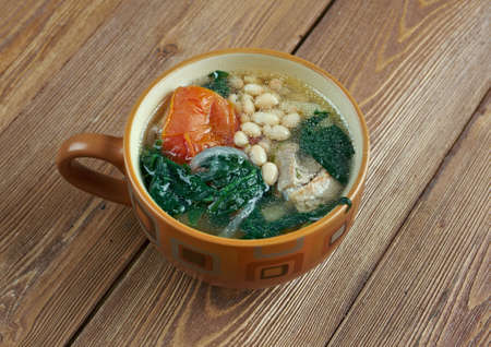 literally: Caldo gallego -  literally Galician broth,  traditional soup dish from Galicia ,Spain
