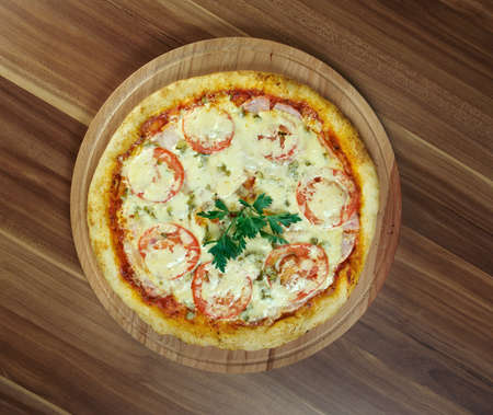 margherita: Pizza Margherita  - Pizza with tomatoes Stock Photo