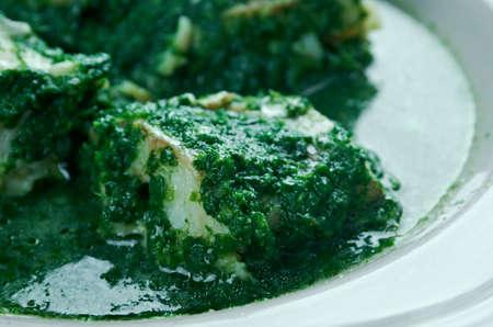 paling: Eel in the Green - Paling in t groen . Flemish regional dish.