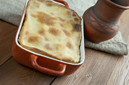 possibly: Woolton pie -  dish of vegetables, widely served in Britain. cooking potatoes (or parsnips), cauliflower, swede, carrots and, possibly, turnip