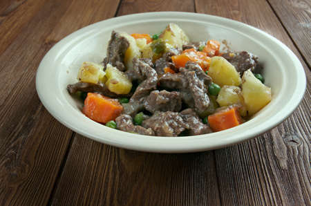 seaports: Scouse -  type of lamb or beef stew. stew commonly eaten by sailors throughout Northern Europe, which became popular in seaports  Liverpool. Stock Photo