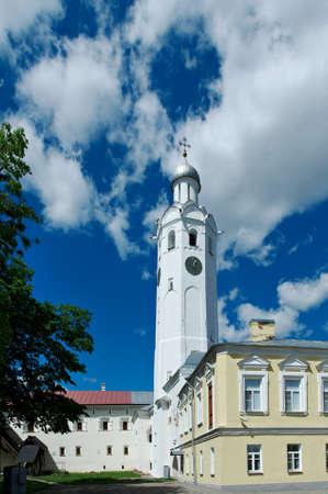veliky: Ancient bell tower in the Kremlin in  Veliky Novgorod, Russia