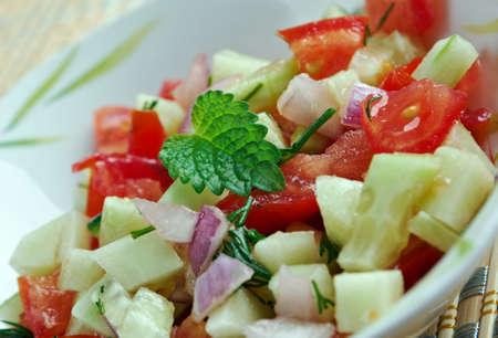 israeli: Israeli salad - Mediterranean sallad close up