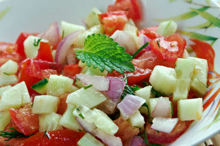 Israeli salad - Mediterranean sallad close up