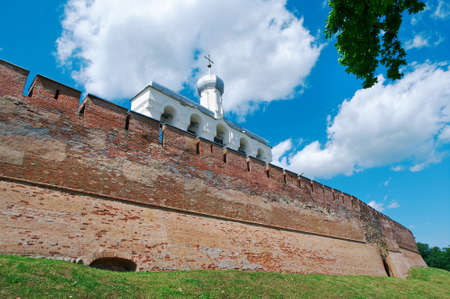 veliky: Bell tower of St. Sophia Cathedral . Veliky Novgorod ancient Russian city