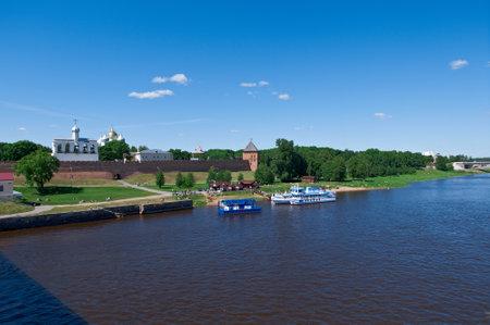 volkhov: View at river Volkhov in Veliky Novgorod.Russia, Editorial