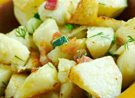 homestyle: German Picnic Salad. traditional German potato salad Stock Photo