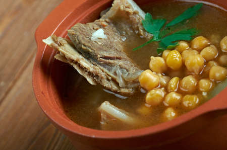 mesopotamian: Abgoosht - Persian and Mesopotamian stew.mutton soup thickened with chickpeas