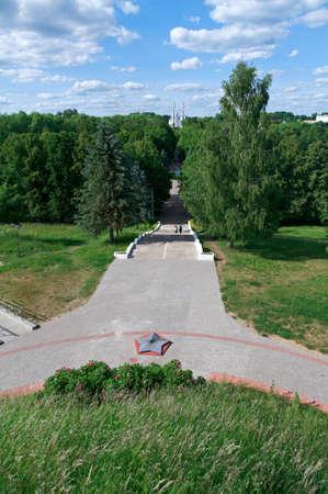 belarus: View  Polotsk.Vitebsk region, Belarus