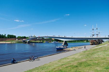 veliky: View at river Volkhov in Veliky Novgorod.Russia, Editorial