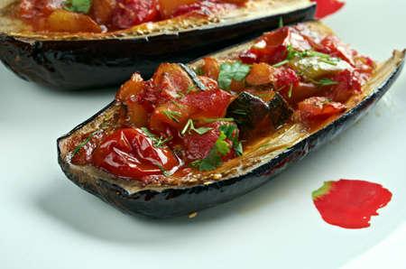 imam: stuffed Eggplant - Imam bayildi .dishes found in Turkish cuisine