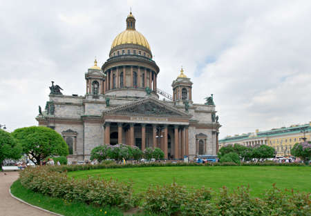 isaac: Saint Isaac cathedral in Saint-Petersburg, Russia.June 2, 2015 Stock Photo