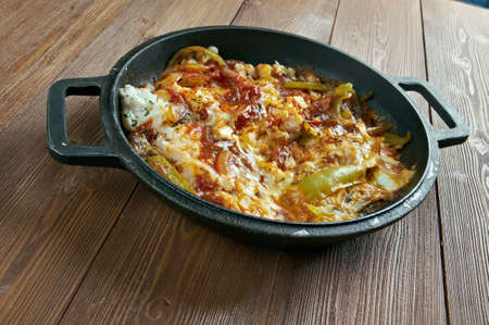 fish dish: Sarsiado -  fish dish from the Philippines which features tomatoes and eggs Stock Photo