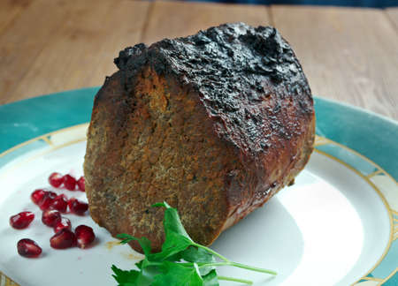 baked meat: Roast Scotch Fillet - baked meat on Scottish