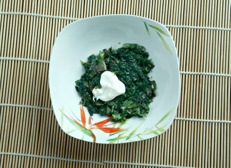 indian mustard: Sarson da saag -  vegetable dish in  Punjab regions of India and Pakistan