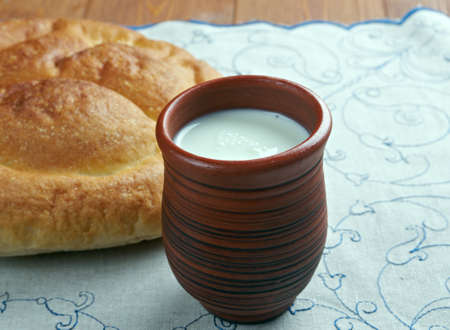 balkans: Kaymak creamy dairy product similar to clotted cream.in Central Asia, the Balkans, Turkic regions Stock Photo