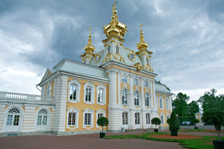 petergof: Peterhof Palace.  Church of Saints Peter and PaulSaint-Petersburg, Russia- JUNE 3, 2015